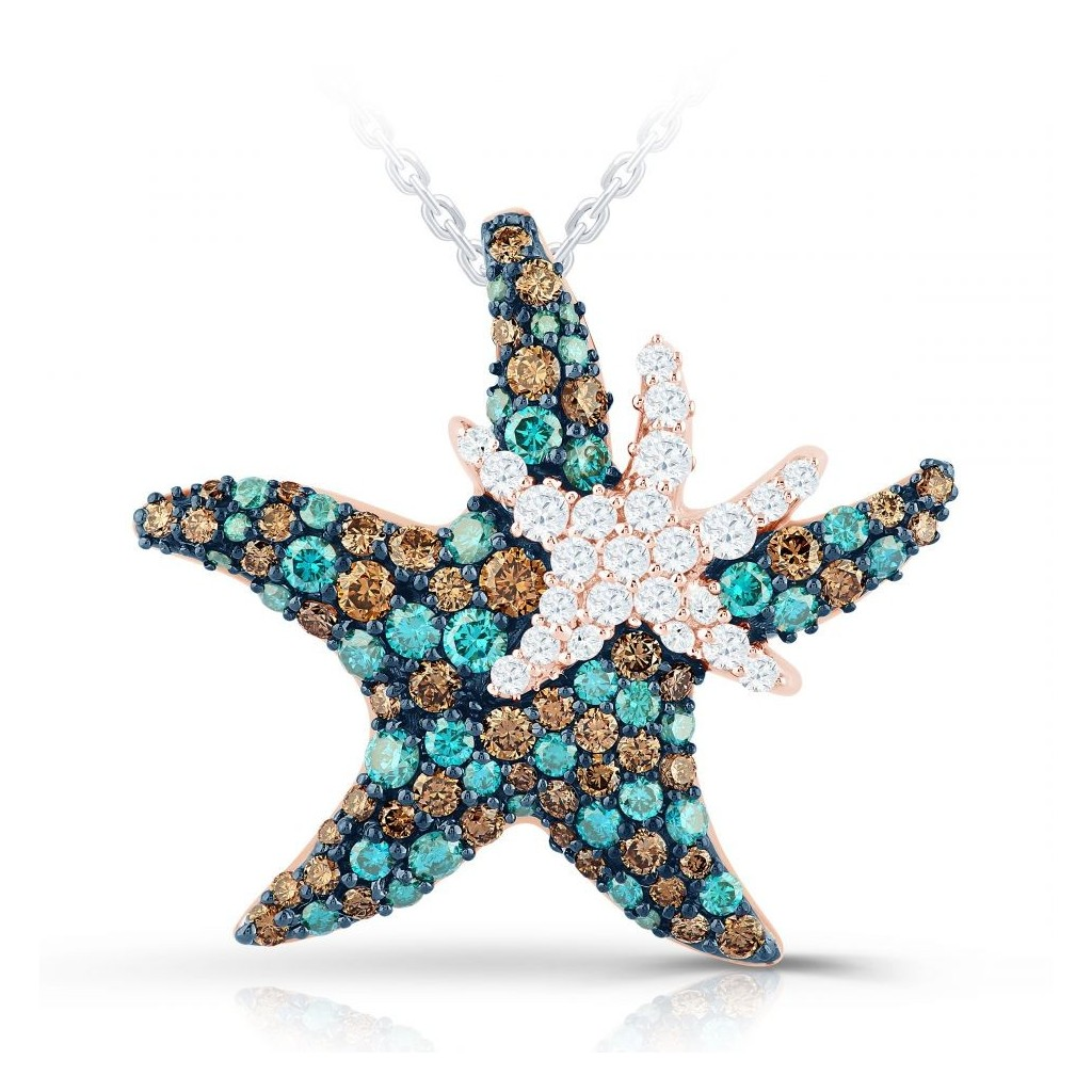 Sea life collection - double starfish Three-Tone
