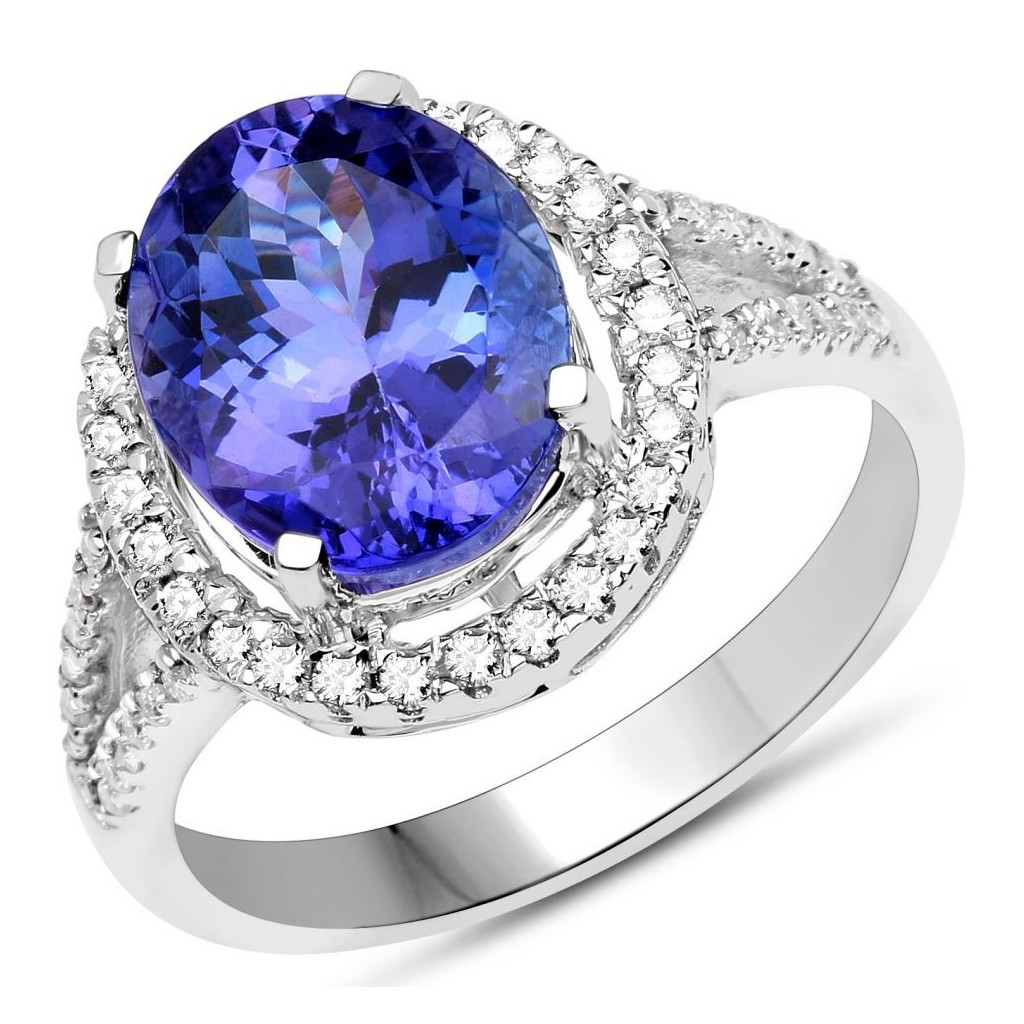 TANZANITE RING WITH 2.64 CARAT TANZANITE & 0.34CARTAT DIAMONDS