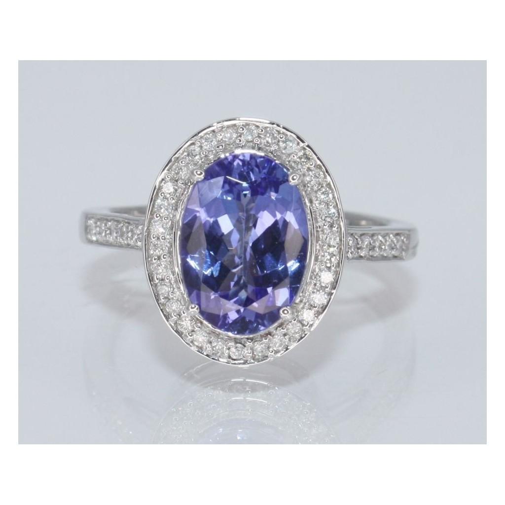 Tanzanite Diamond Ring with 2.78 Carats