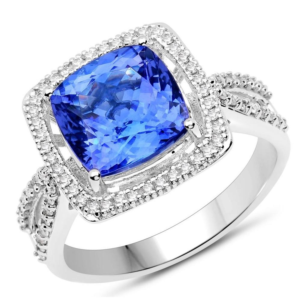 Tanzanite Diamond Ring with 4.04 Carats