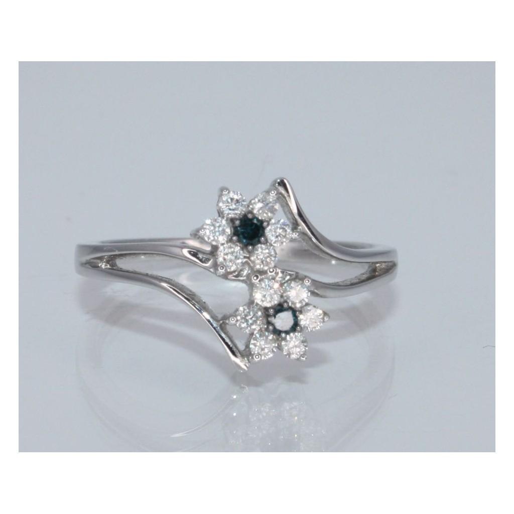 BLUE DIAMOND RING 0.25 CARAT