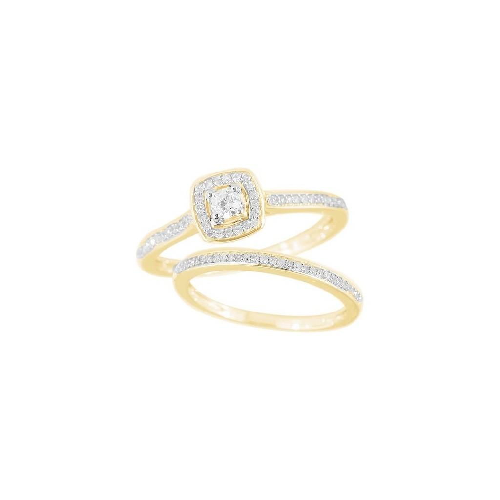 14KT DIAMOND RING WITH 0.35 CARAT DIAMONDS