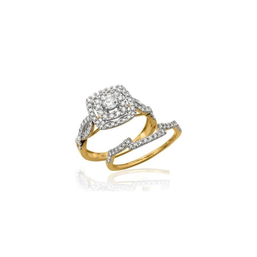 14KT DIAMOND RING WITH 1 CARAT DIAMONDS