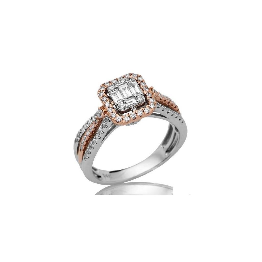 14KT DIAMOND RING WITH 0.85CARAT DIAMONDS