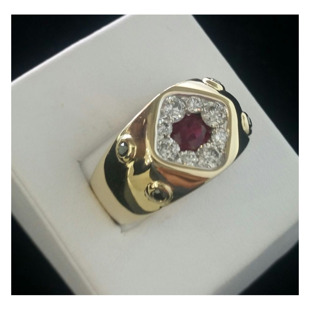 Men's Ruby Ring with 2.05 Carat