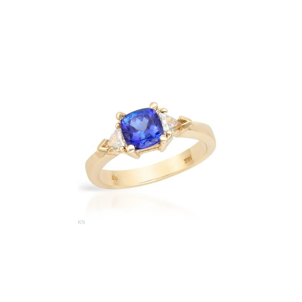 14k yellow gold ring 1.20ct...