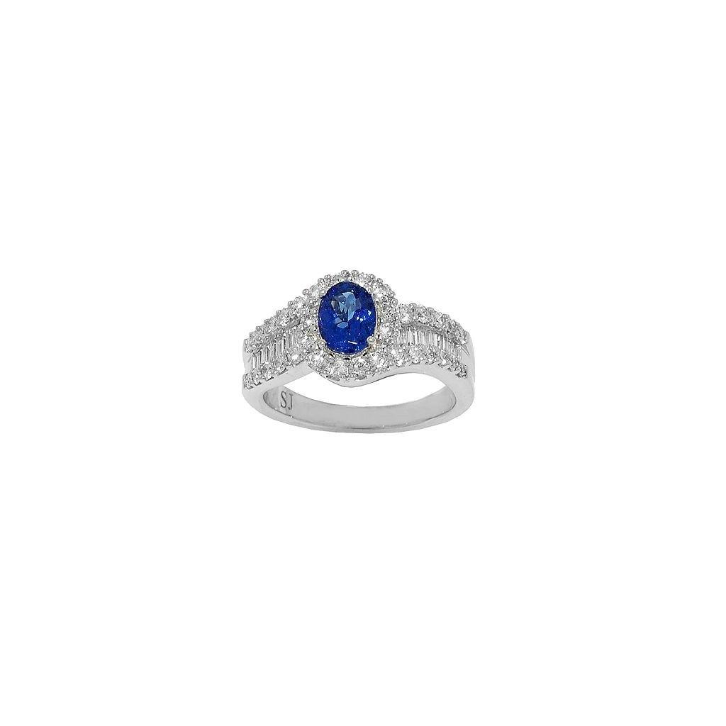 Tanzanite Diamond Ring with...