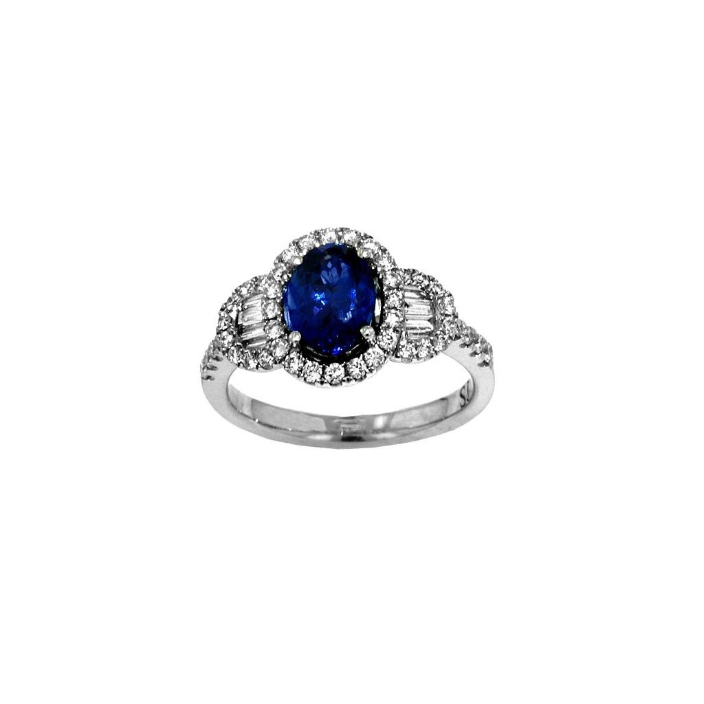 Tanzanite Diamond Ring 1.91 Carats