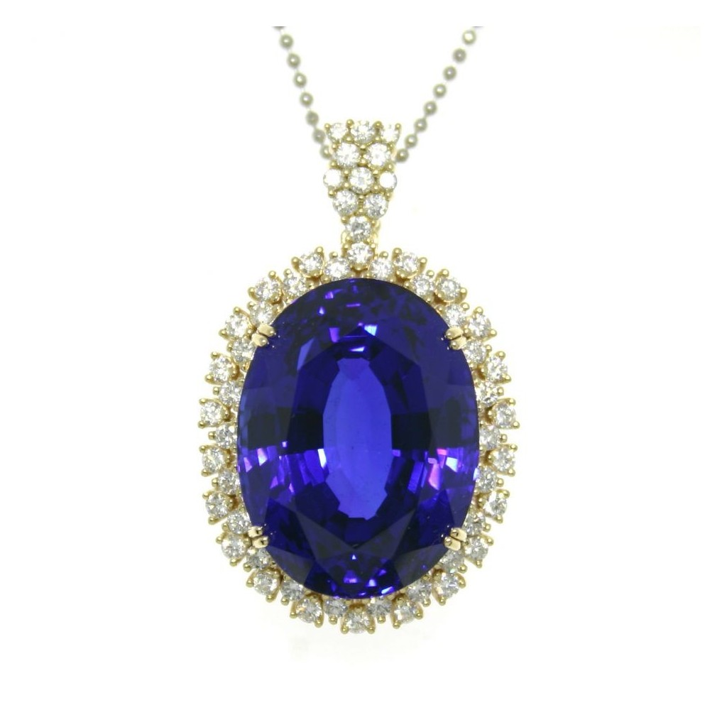 Tanzanite Pendent with 24.58 Carats