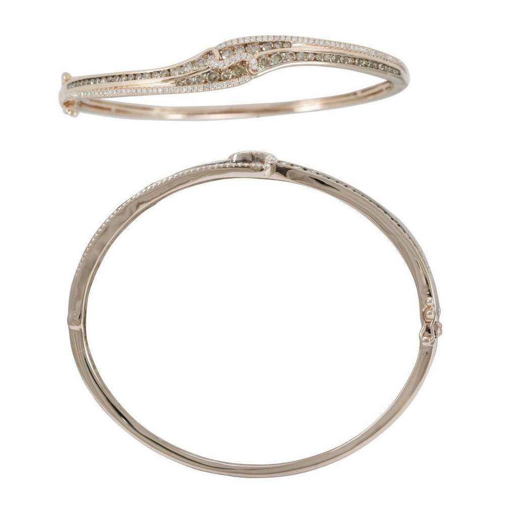 14k rose gold bracelet 1.38ct Champagne Diamond and 0.44ct Diamond