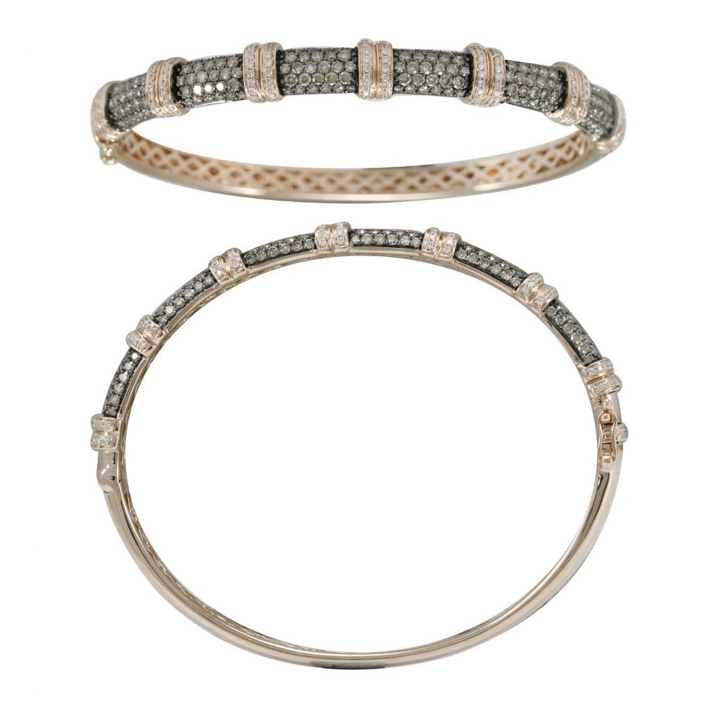 14k rose gold bracelet 0.72ct Champagne Diamond and 0.59ct Diamond
