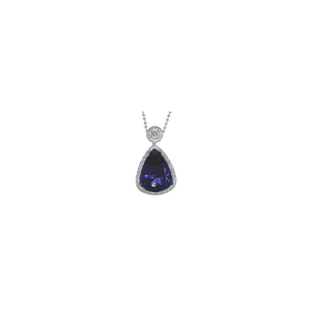 Tanzanite Pendent with 55.42 Carats