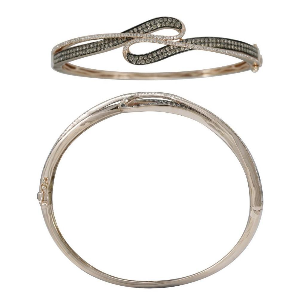 14k rose gold bracelet 1.44ct Champagne Diamond and 0.44ct Diamond