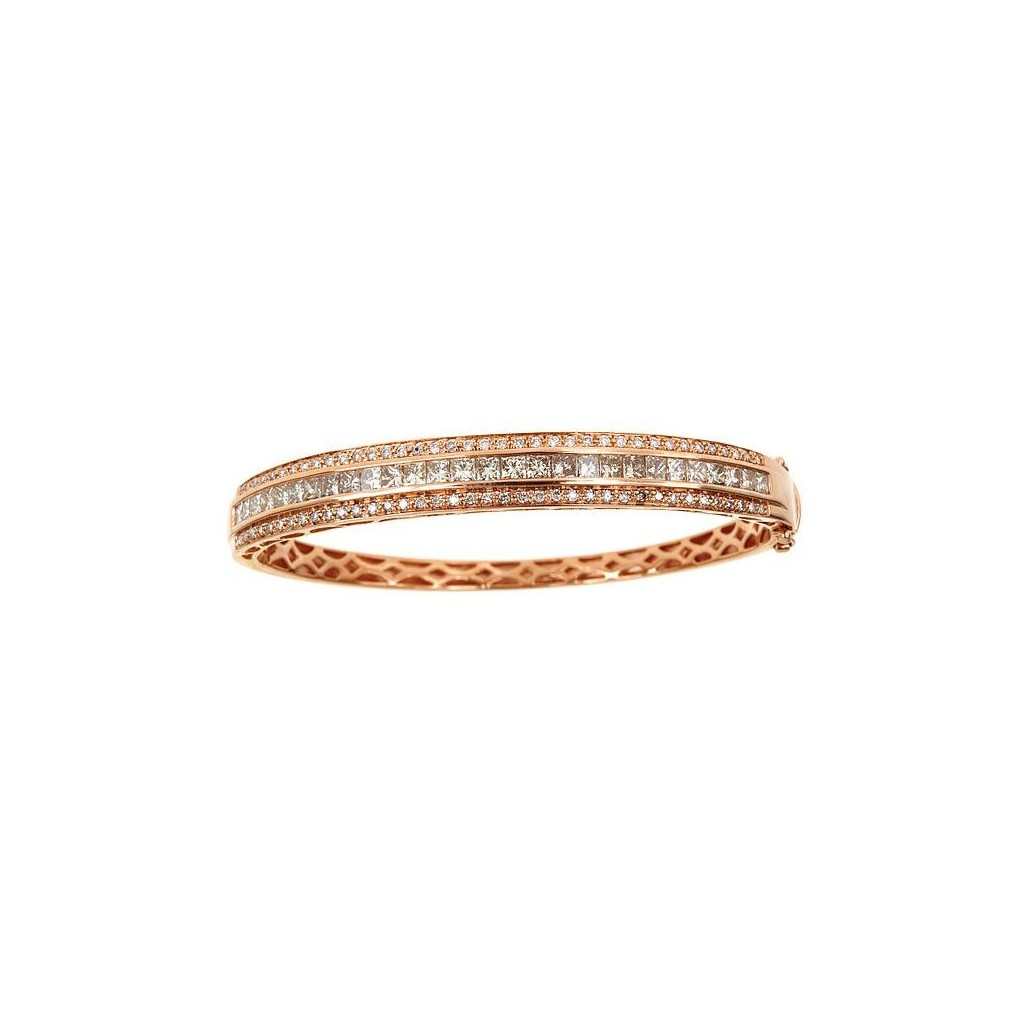 14k rose gold bracelet 3.25ct Champagne Diamond and 0.60ct Diamond