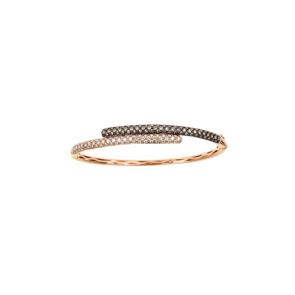 14k rose gold bracelet 0.90ct Champagne Diamond and 0.90ct Diamond