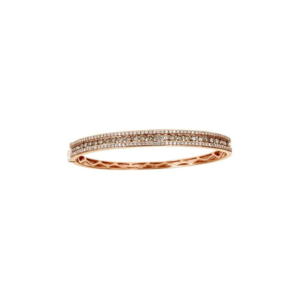14k rose gold bracelet 2.20ct Champagne Diamond and 0.85ct Diamond