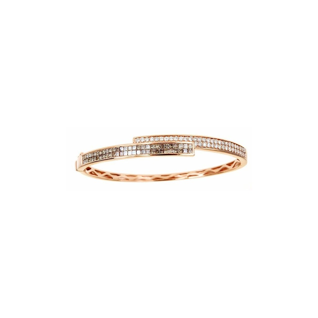 14k rose gold bracelet 1.95ct Champagne Diamond and 0.80ct Diamond