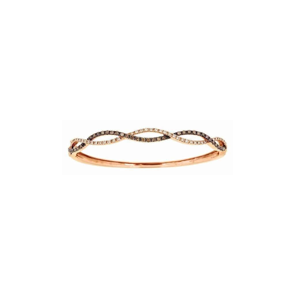 14k Rose Gold Bracelet 0 65ct Champagne