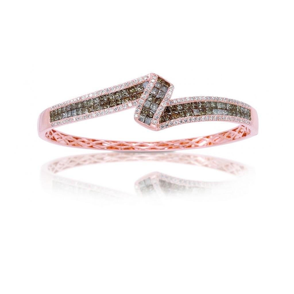 Champagne Diamond Bracelet with 4.90 Carats