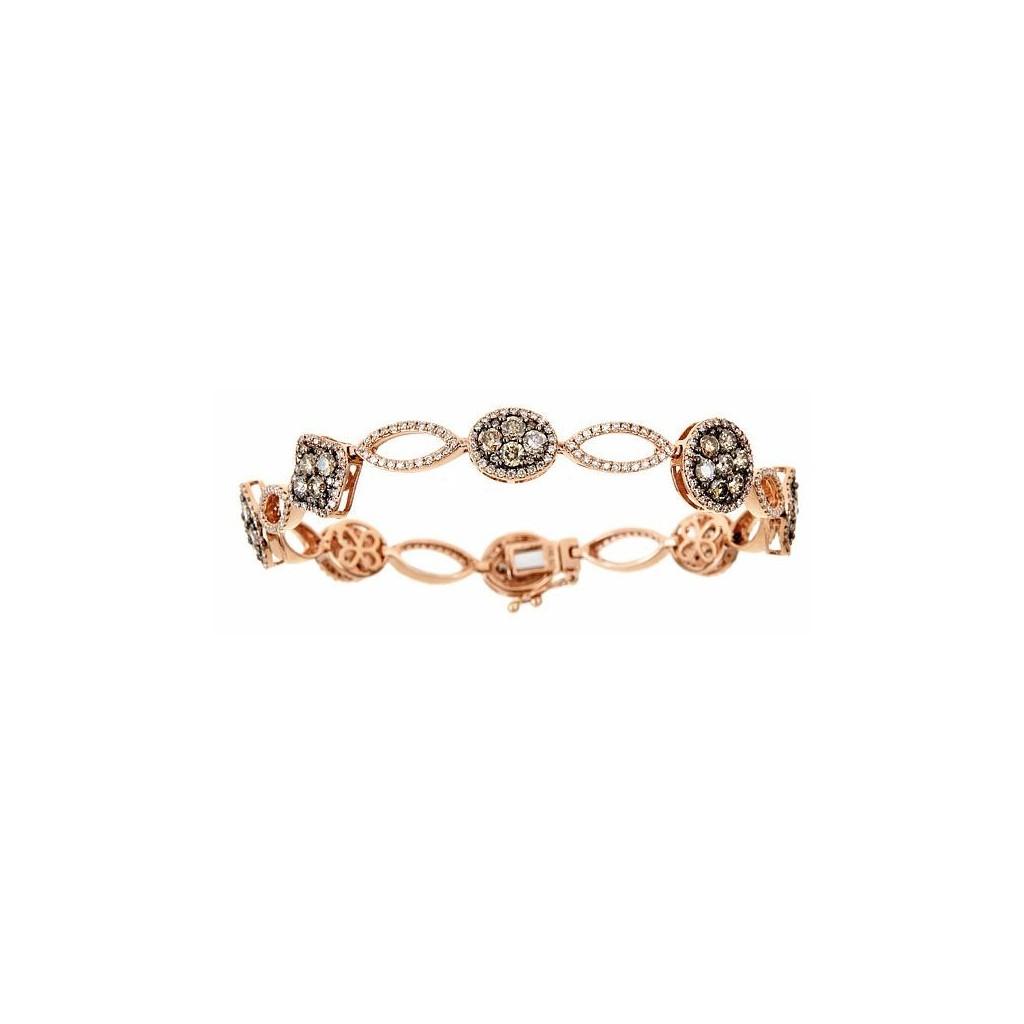 14k Rose Gold Bracelet 3 00ct Champagne