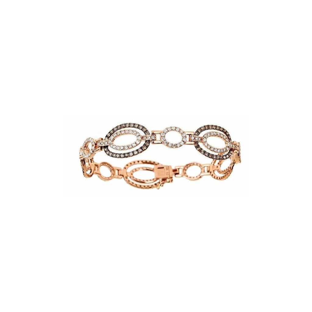 14k Rose Gold Bracelet 2 20ct Champagne