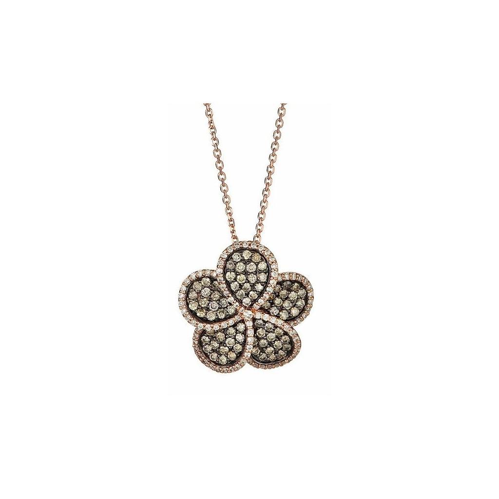 14k rose gold pendant...