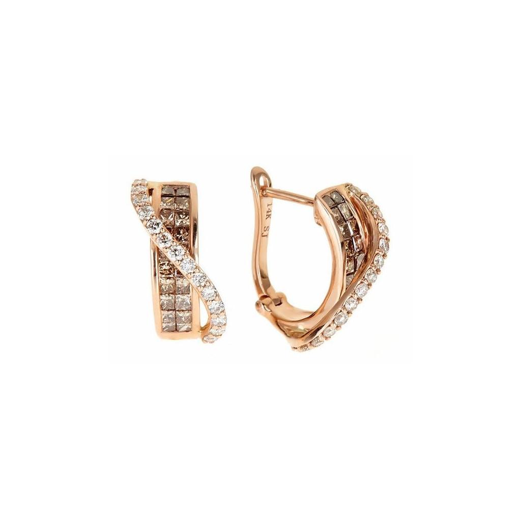 Champagne Diamond Earrings...