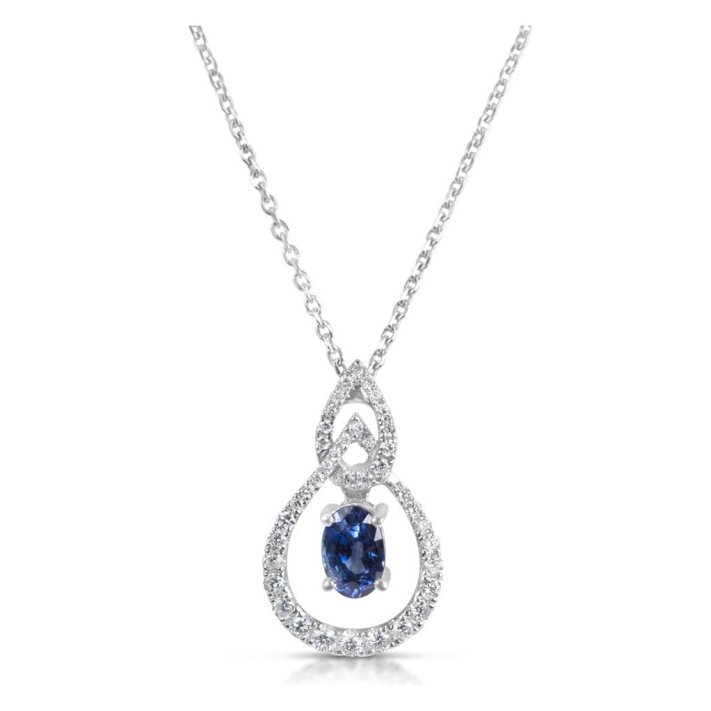 Sapphire Pendent with 1.00 Carats