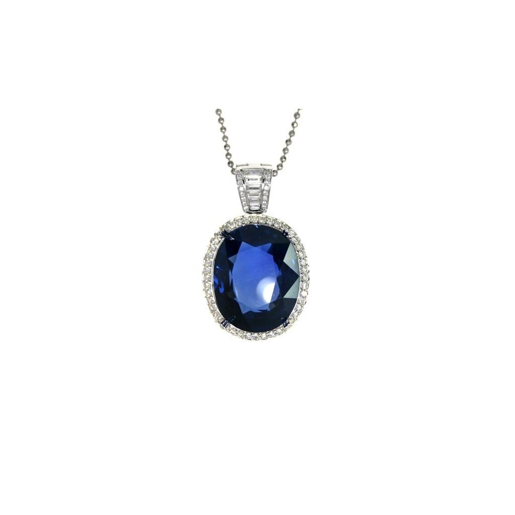 Sapphire Pendent with 28.10 Carats