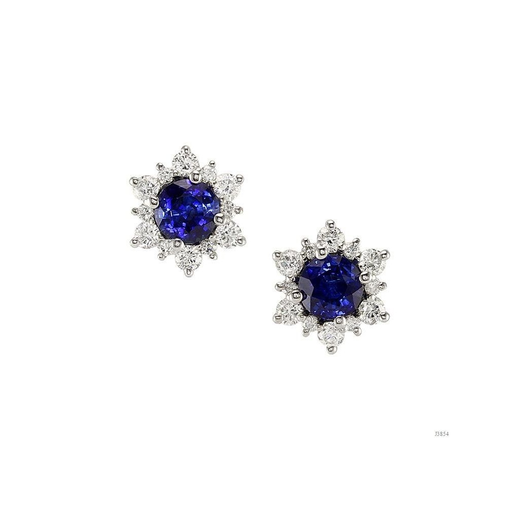 Sapphire Diamond Earrings with 22.66 Carats