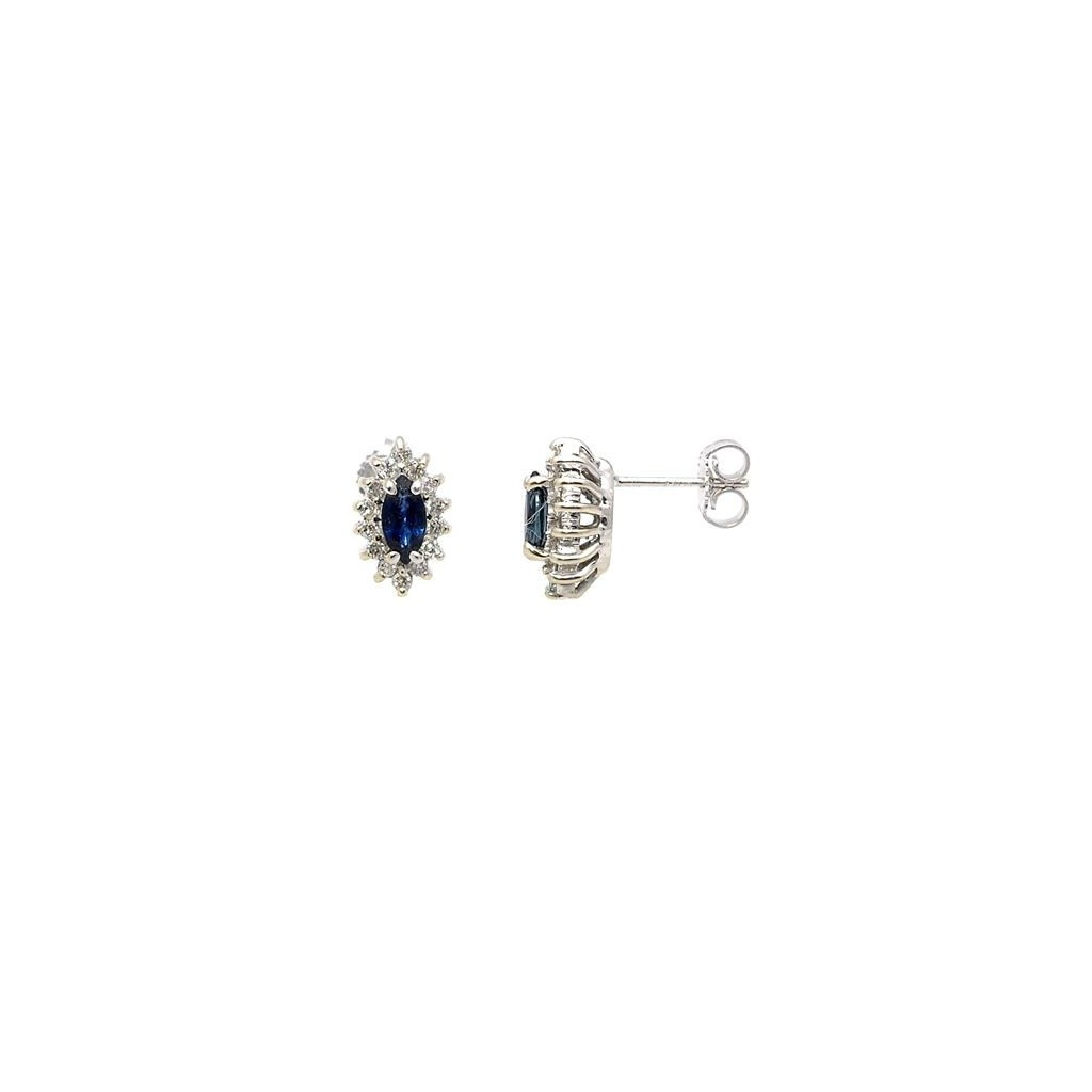 Sapphire Diamond Earrings with 0.94 Carats
