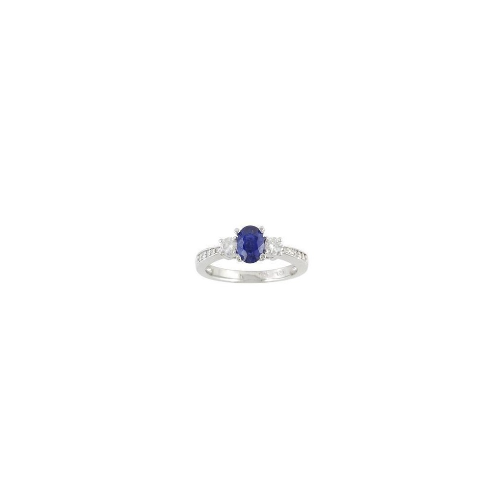 14K WHITE GOLD RING 1.04CTS...