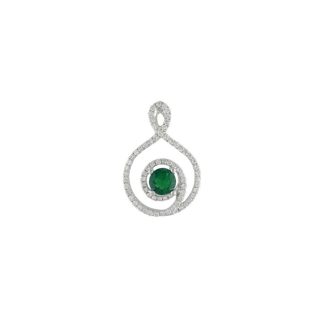 Emerald Pendent with 0.78 Carats