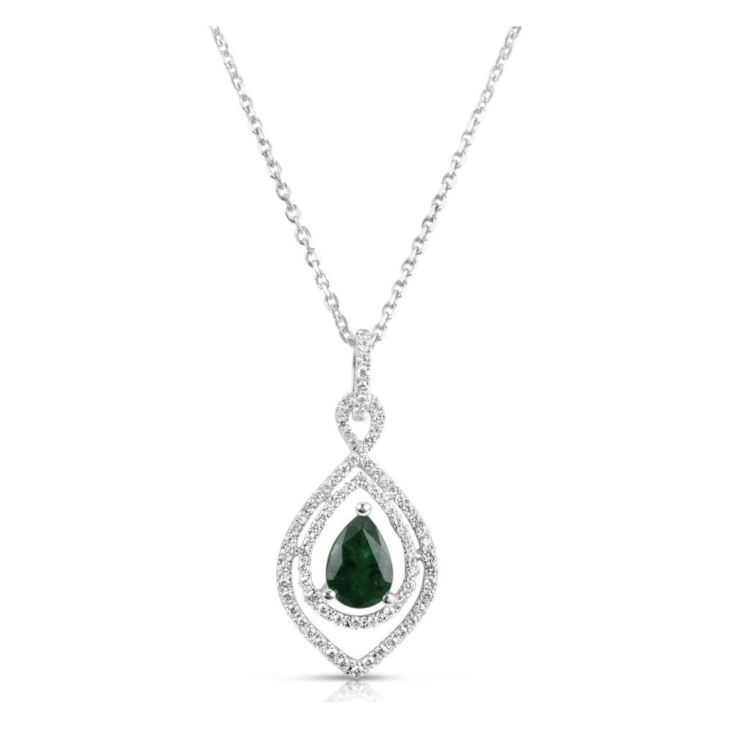 Emerald Diamond Pendent with 0.93 Carats