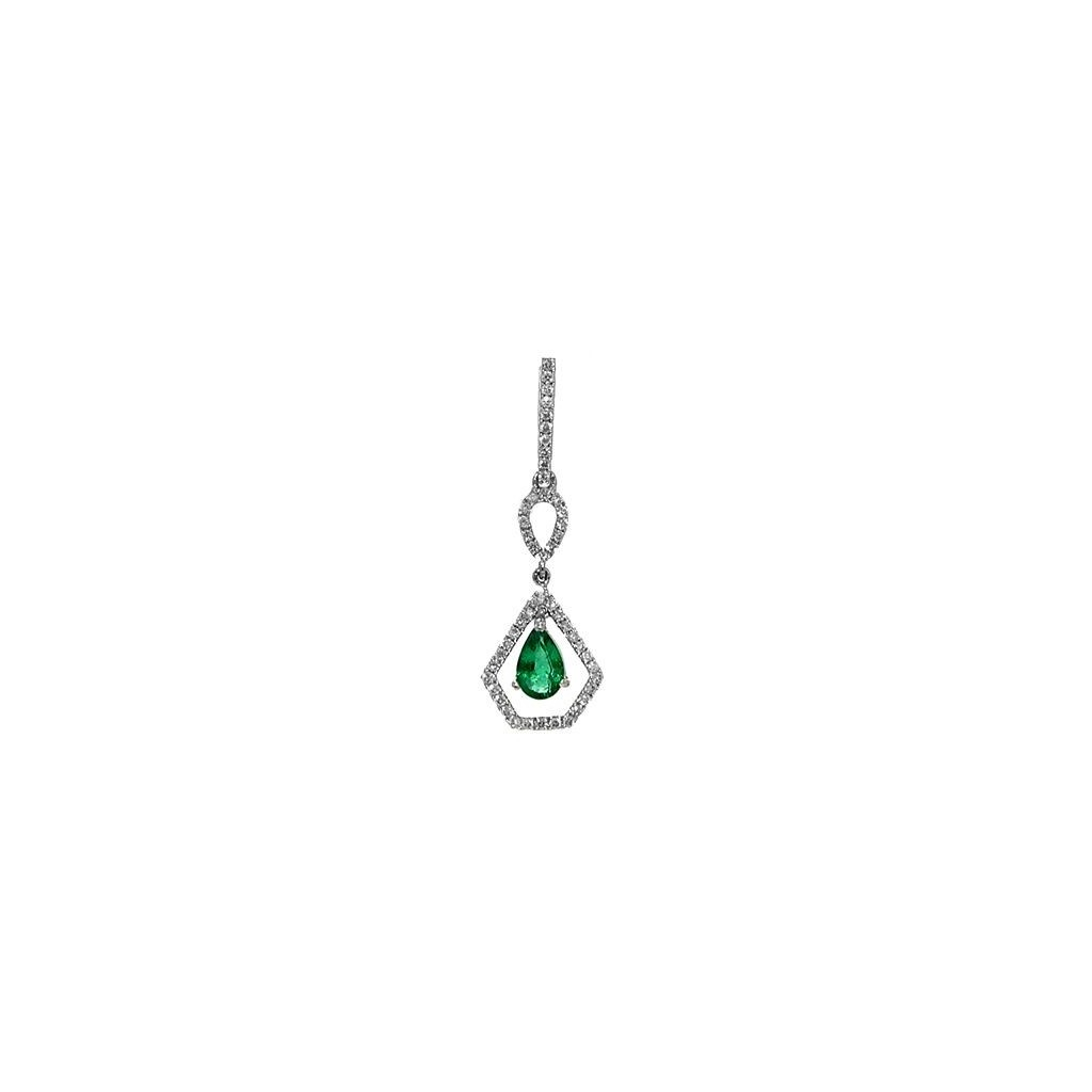 Emerald Diamond Pendent with 0.53 Carats