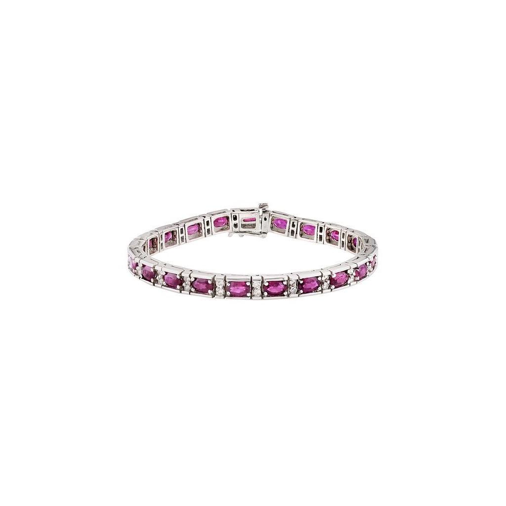 Ruby Diamond Bracelet with 12.94 Carats
