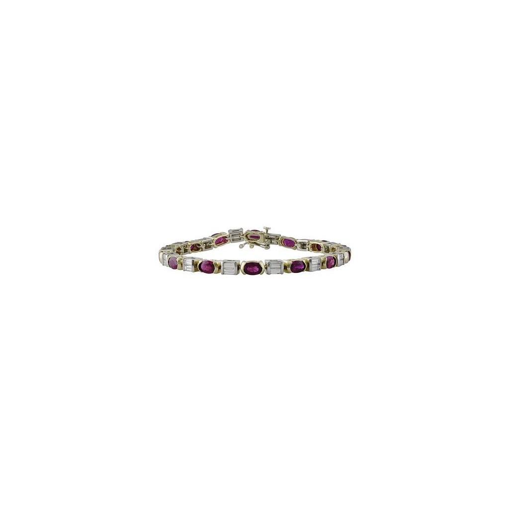 Ruby Diamond Bracelet with 9.90 Carats