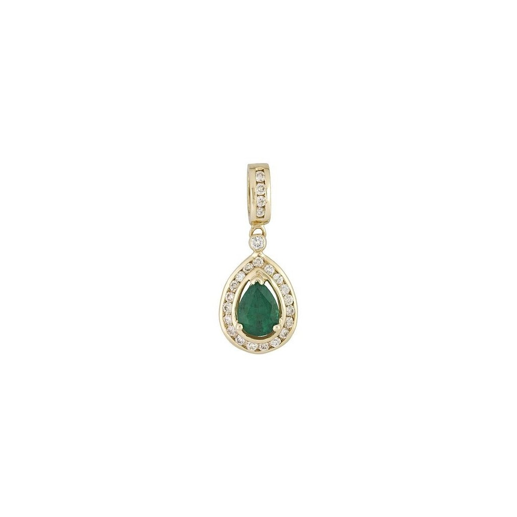 Emerald Diamond Pendent with 1.54 Carats