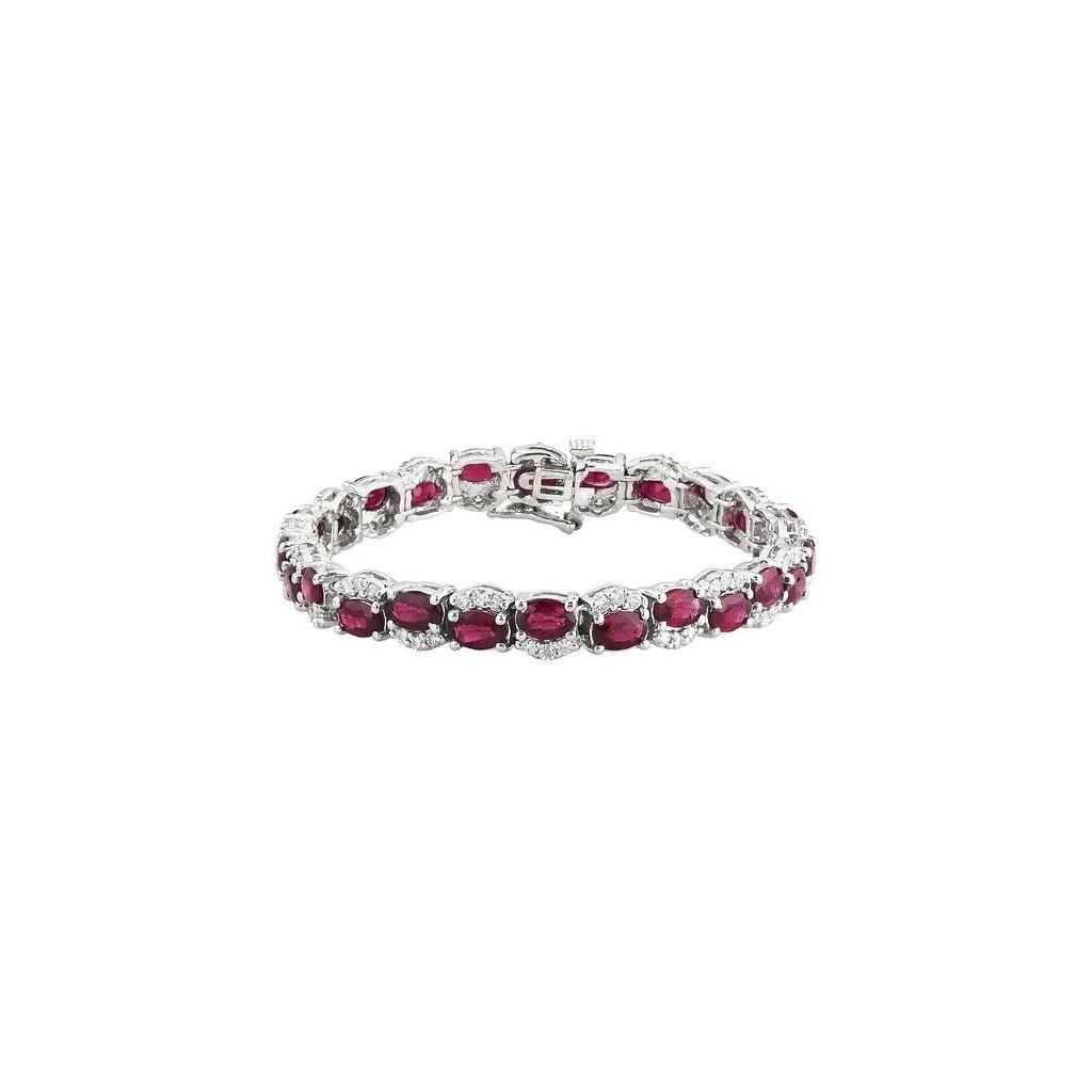 Ruby Diamond Bracelet with 16.10 Carats