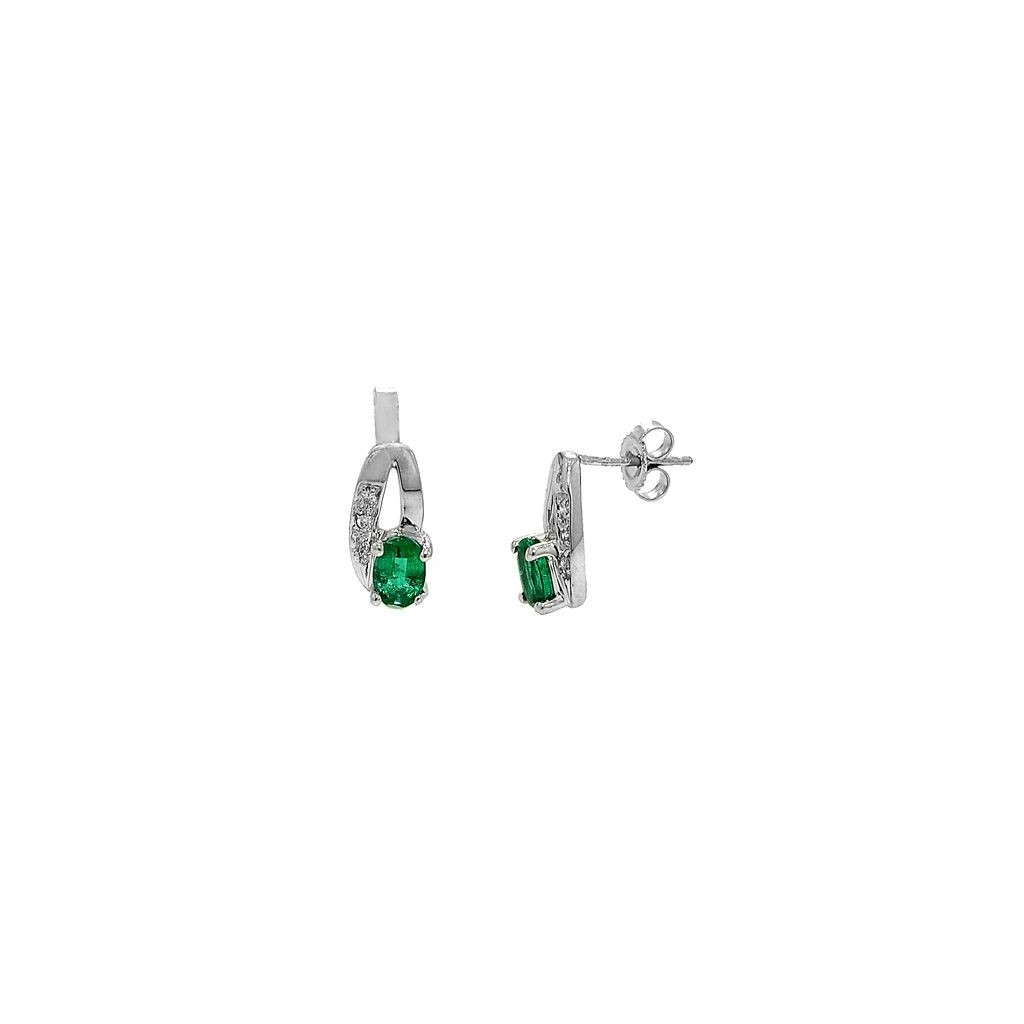 Emerald Diamond Earrings with 0.92 Carats