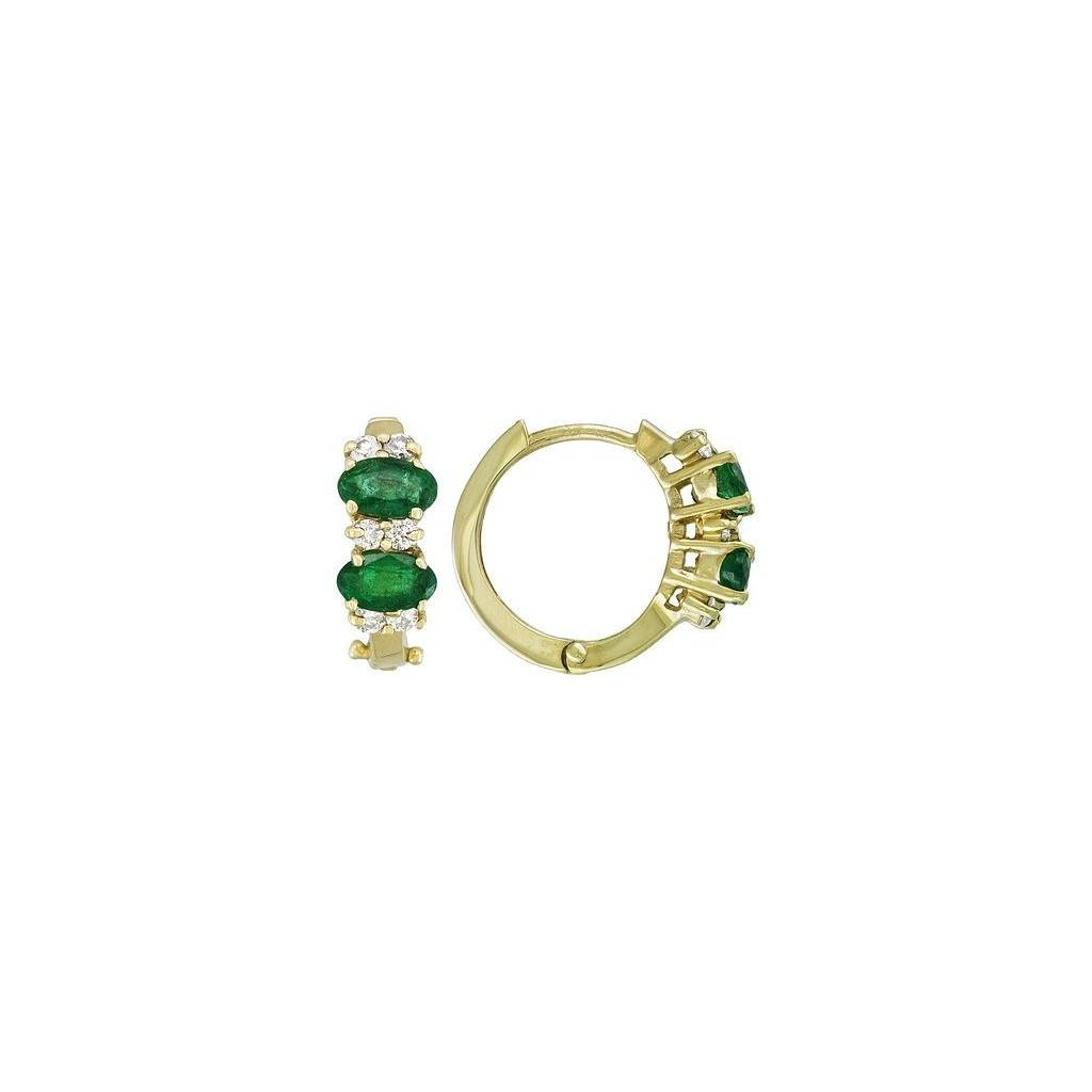 Emerald Diamond Earrings with 1.10 Carats