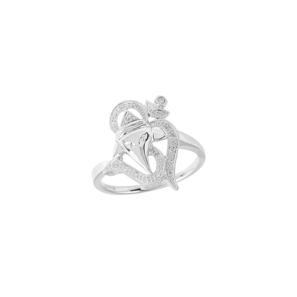 14kw 0.10ctw Diamond OM Ring