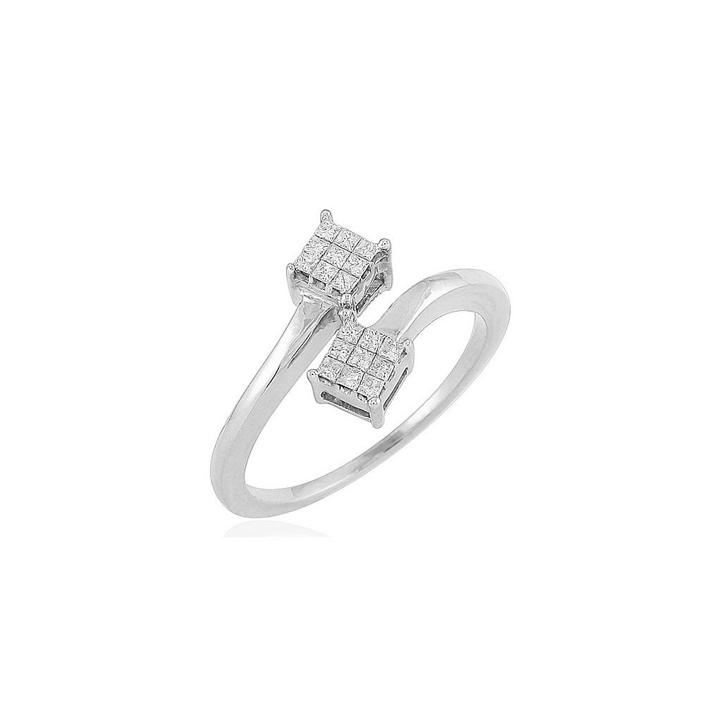 14kw 0.20ctw Diamond Ring