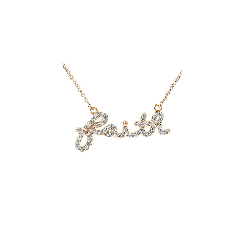 Diamond 'Faith' Necklace with 0.20 Carats