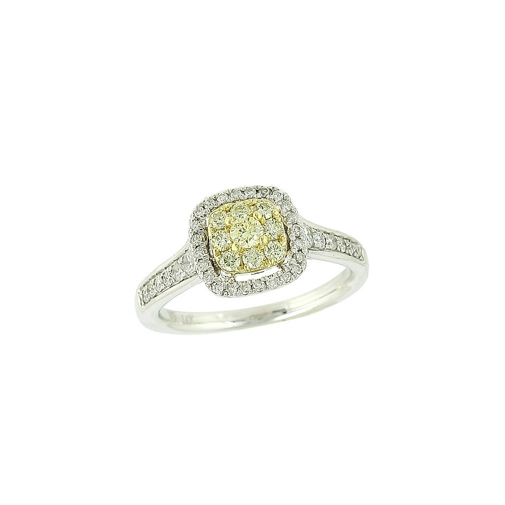 14K 0.75CTW Fancy Yellow Diamond Ring
