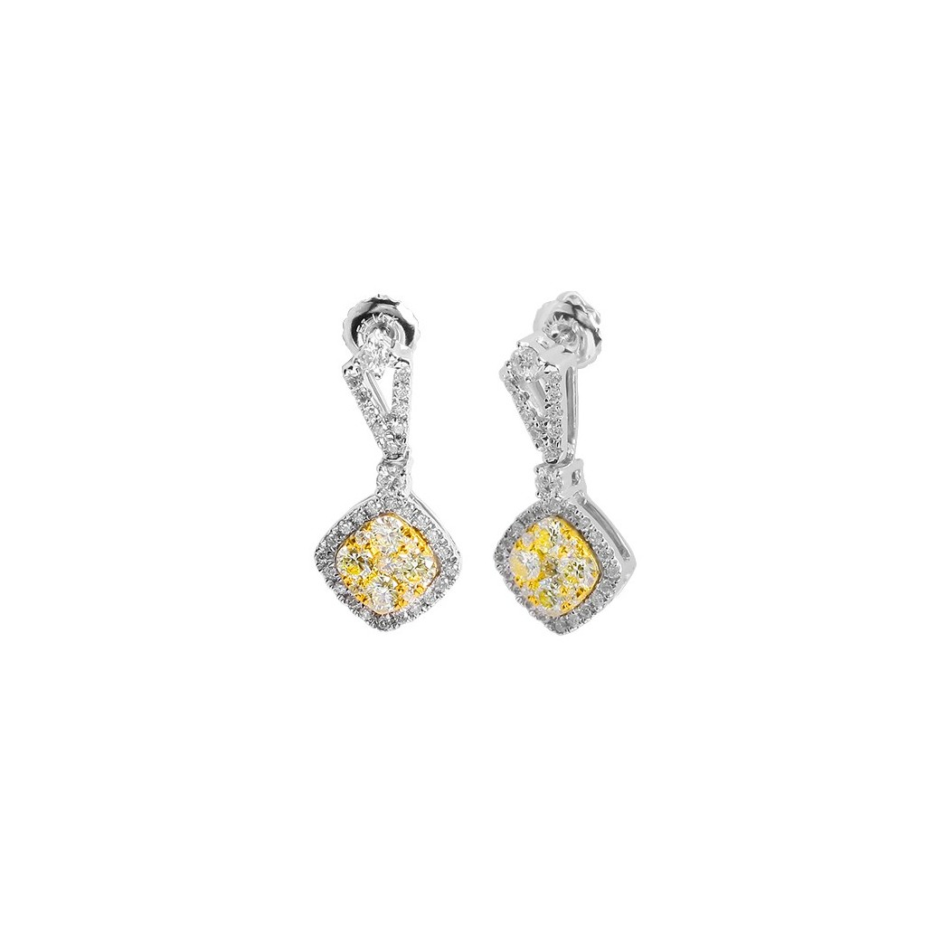 Yellow Diamond Earring with 1.35 Carats