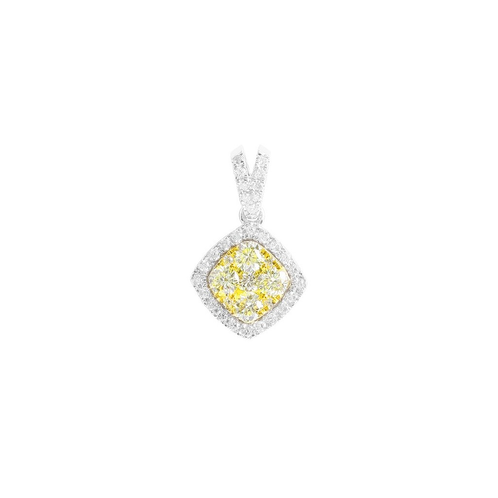 Yellow Diamonds Pendent with 1.00 Carats
