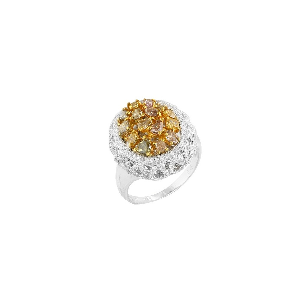 14kw 1.93ctw Fancy Yellow Diamond Ring