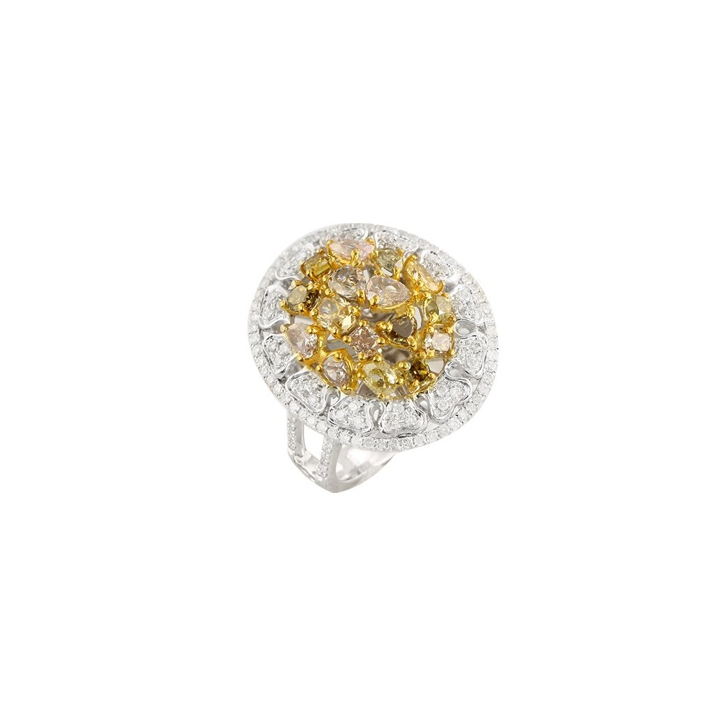 14kw 2.50ctw Fancy Yellow Diamond Ring