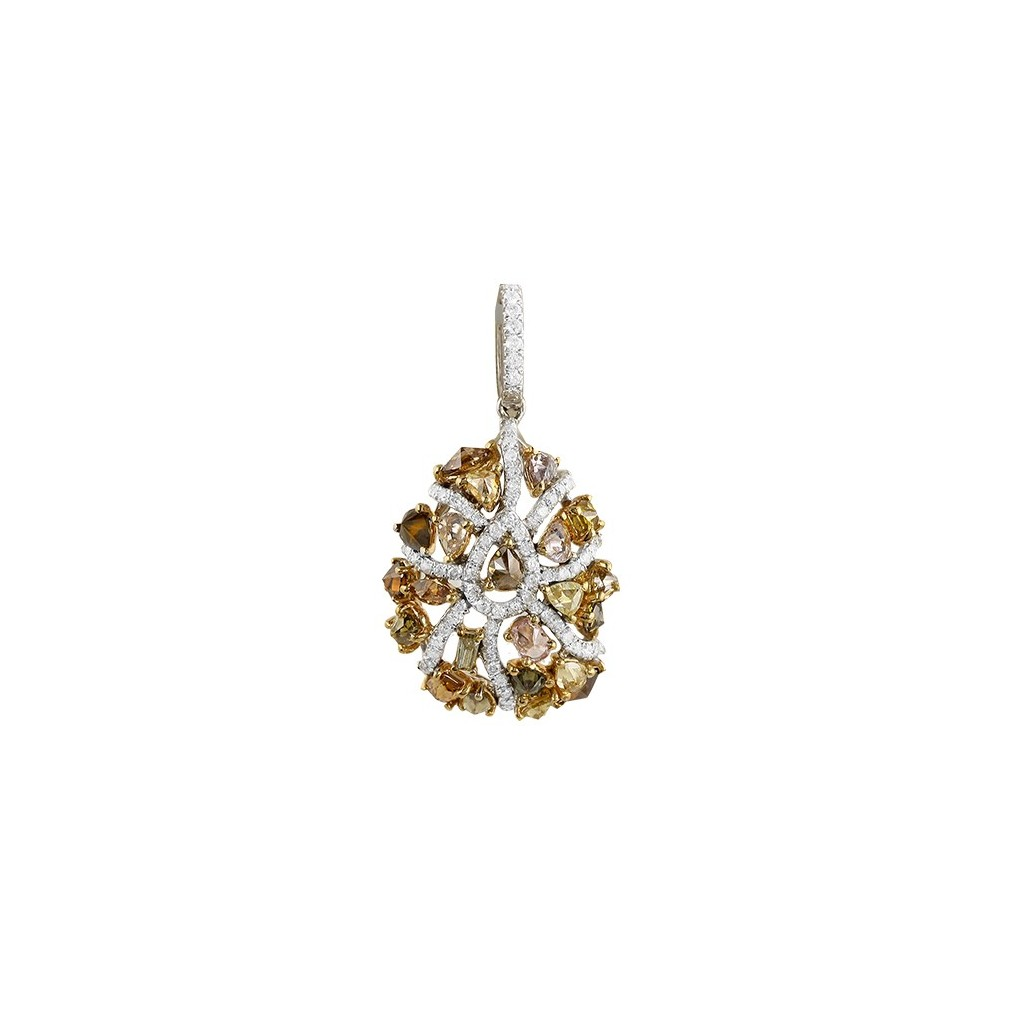Yellow Diamonds Pendent with 2.50 Carats